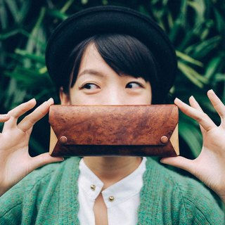 【TREETHER】 Camphor Burl Pencil Case