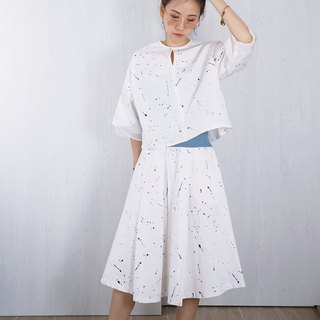OUD Original. Printed Cotton Pleated Skirt Co-Ord Set. XS-XXL/ Customized Size