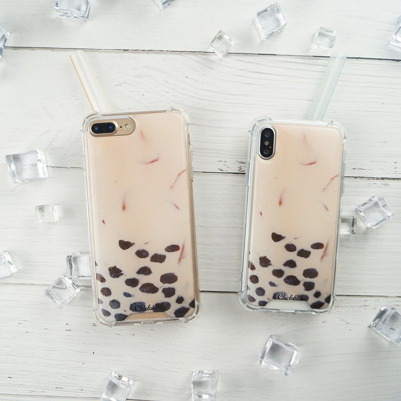[Pearl Milk Tea] Anti-gravity anti-fall mobile phone case