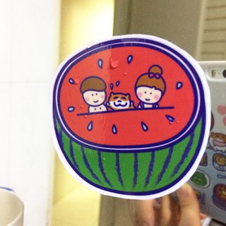 Watermelon の waterproof sticker (M) suitcase safety helmet for Waterproof stickers
