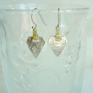 Tin earrings · pentagons