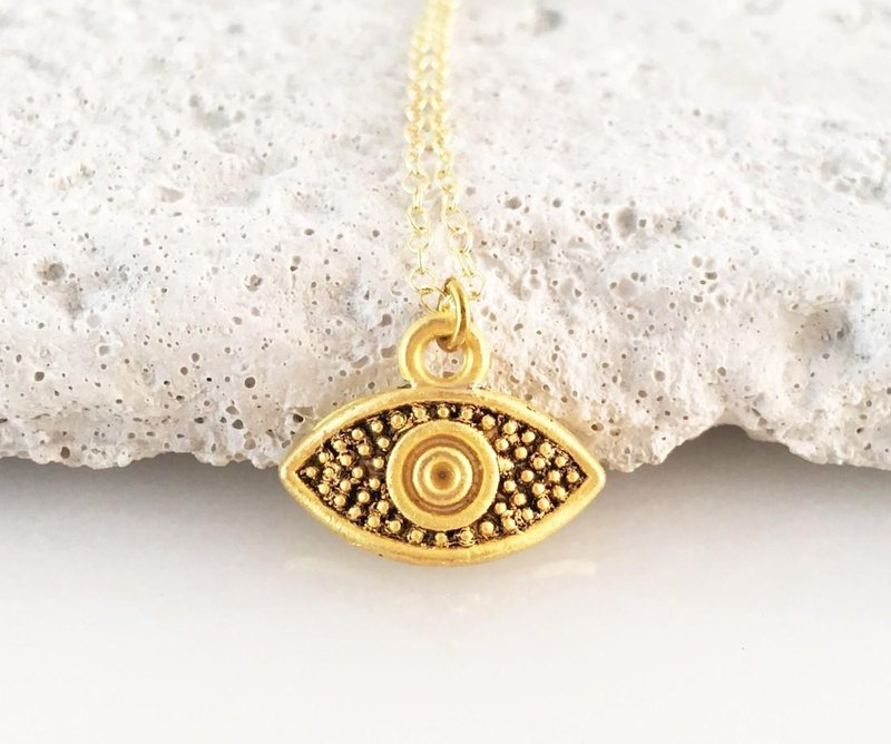 Evil Eye ◆ Keep evil eye protection ◆ K14GF chain pendant