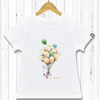 STATELYWORK Dream Balloons - Girls' White T-Shirts