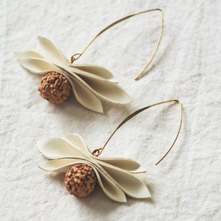 Cowhide earrings - fruit