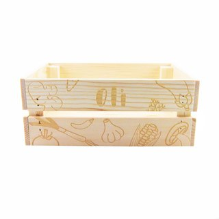 Custom name wooden box - vegetable section