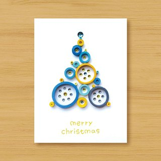 Handmade Roll Paper Christmas Card _ Blessings from afar ‧ Dream Bubble Christmas Tree _J