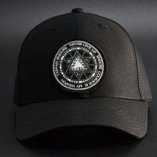 Hexagon magic symbols old hat / black