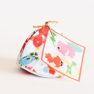 Goldfish (金魚)  Handmade Coin Purse. Clam Shell Accessories Case. Birthday gift.