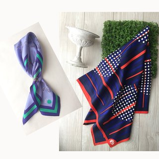 Arandano blueberry & circle dots scarves
