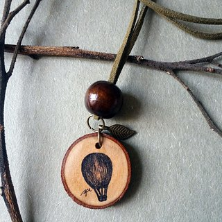 Hand painted necklace / pendant (hot air balloon)