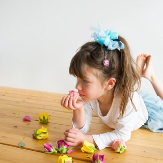 mini || Blue Hawaii || Blooming Sakiami Colourful Hair Scrunchy | Hair Accessory