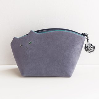 Kittenko Pouch ☆ Machi wide type light gray 【Build-to-order】