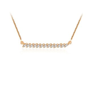 Line Diamond Necklace