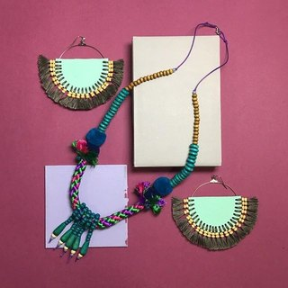 necklace : boho-chic(blue)