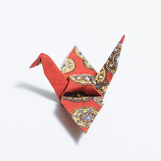 \ Heli lone / origami pins _ red dome