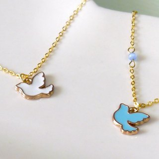 Light you up peace dove necklace