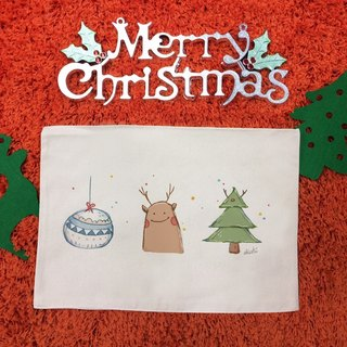 [Christmas gifts] illustrator chichi Christmas │ decorate your table Canvas Placemat