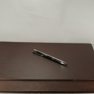 Mark Honor Italian aniline tanned leather pad mat writing pad - Dark 32 cm * 24 cm