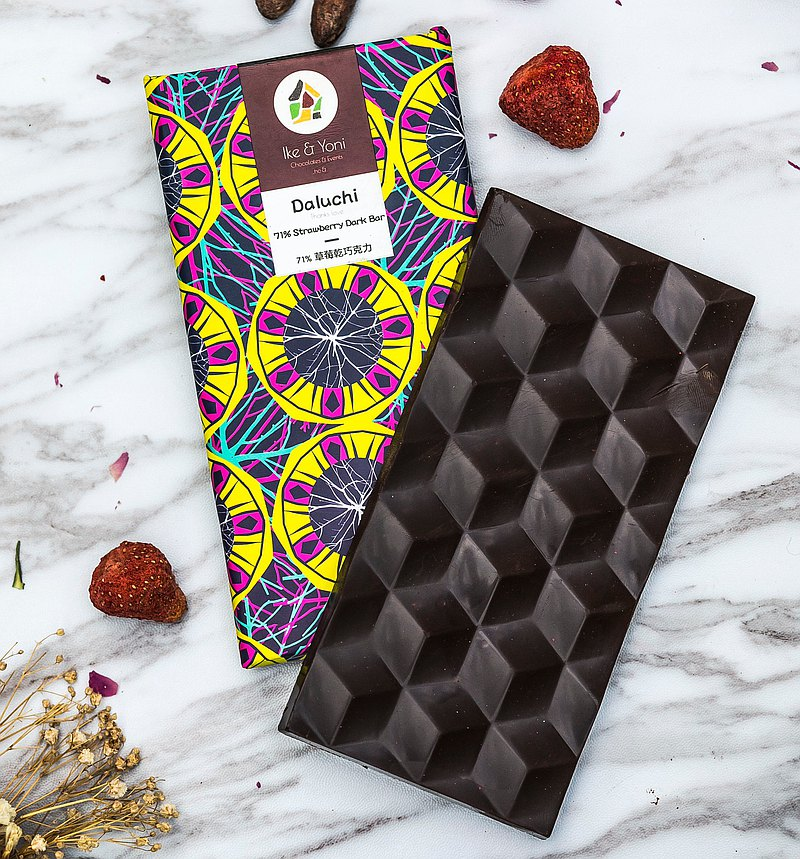 草莓乾黑巧克力 | Daluchi
