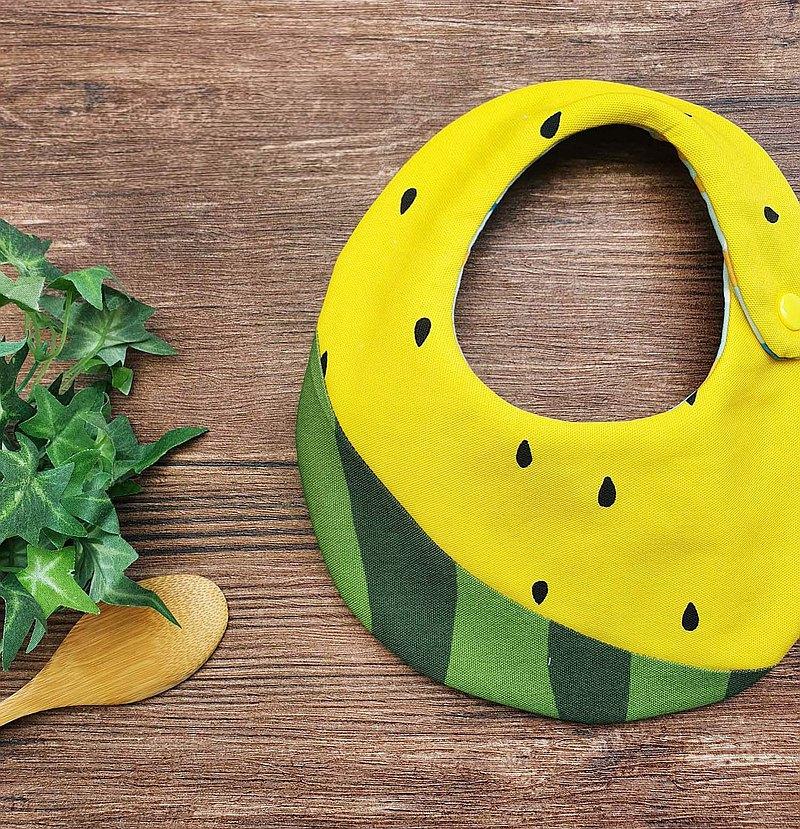小玉西瓜- 造型雙面圍兜口水巾