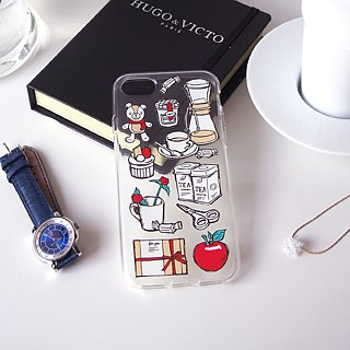 Clear iPhone case - Coffee Time -