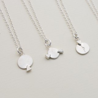 Round Triangle Necklace