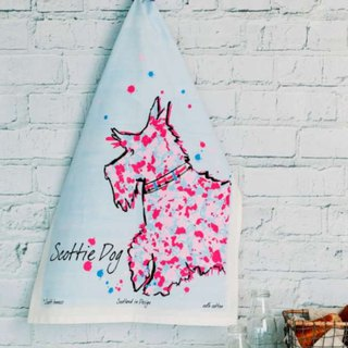 British Scott Inness Scottish Splash Schnauzer Puppet Towel Kitchen Special Towel / Wipe Bowl