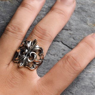 Gorgeous European carved knight wide version ring 925 sterling silver
