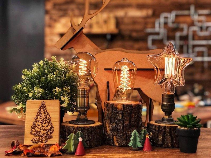 【 1人成團 】/ 手作桌燈 / 原木樟樹造型燈飾DIY
