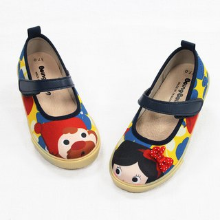Illustration doll shoes - yellow / candy white snow children's shoes