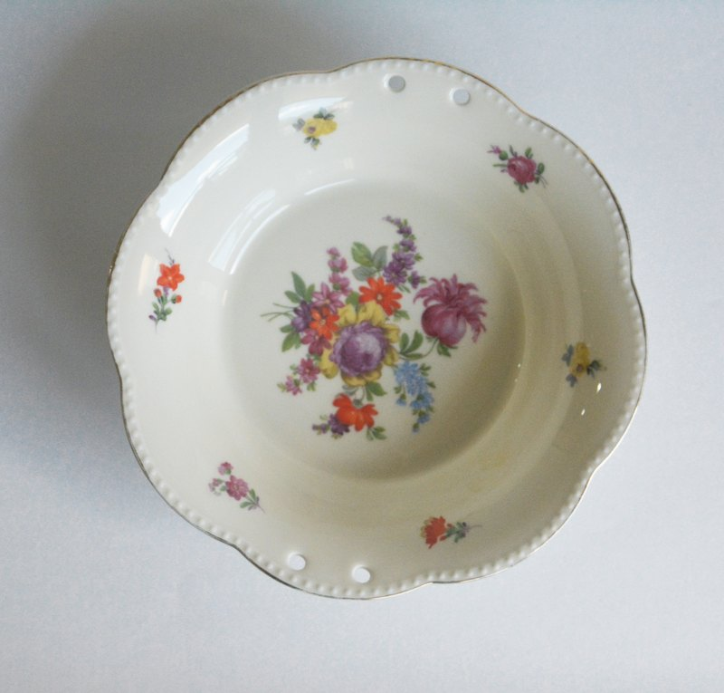 Early German antique antique ceramic fruit plate