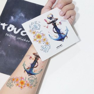 TU Tattoo Sticker - anchor / Tattoo / waterproof Tattoo / original /...