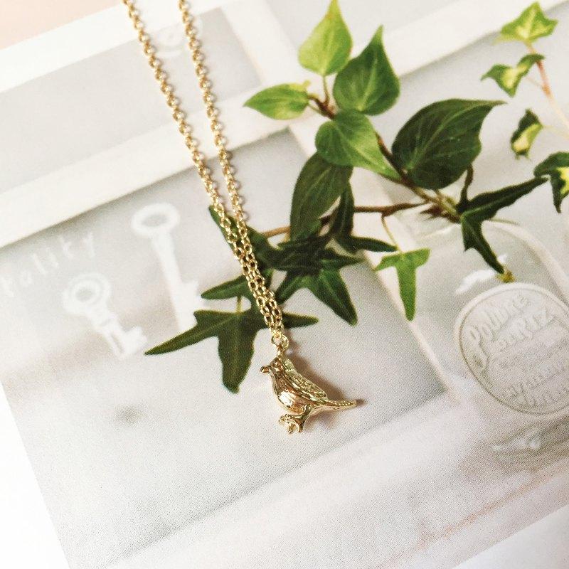 小鳥啾啾 | 銅包金 | 金色項鍊