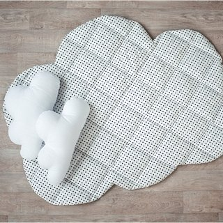 Baby play mat, cloud shape polka dot play mat