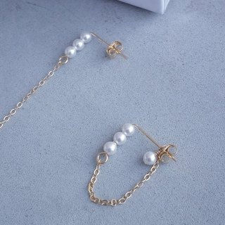 【Blooming 】14k Japan pearl earrings