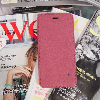 Optima iPhone 8/7 Plus side stand type protective shell linen rose red