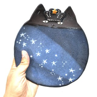 Cat face dish (KING) # GENTLE STYLE Large size