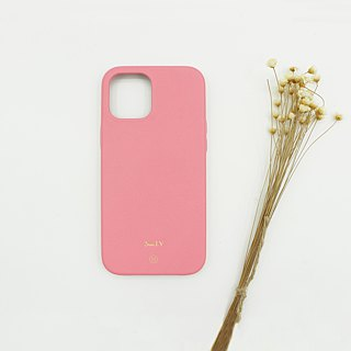 Customized Multicolor Leather Lambskin Series Macaron Dream Color Cherry Blossom Pink iPhone Case