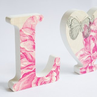 Tailor-made -  Wedding wooden letter décor (White edge)