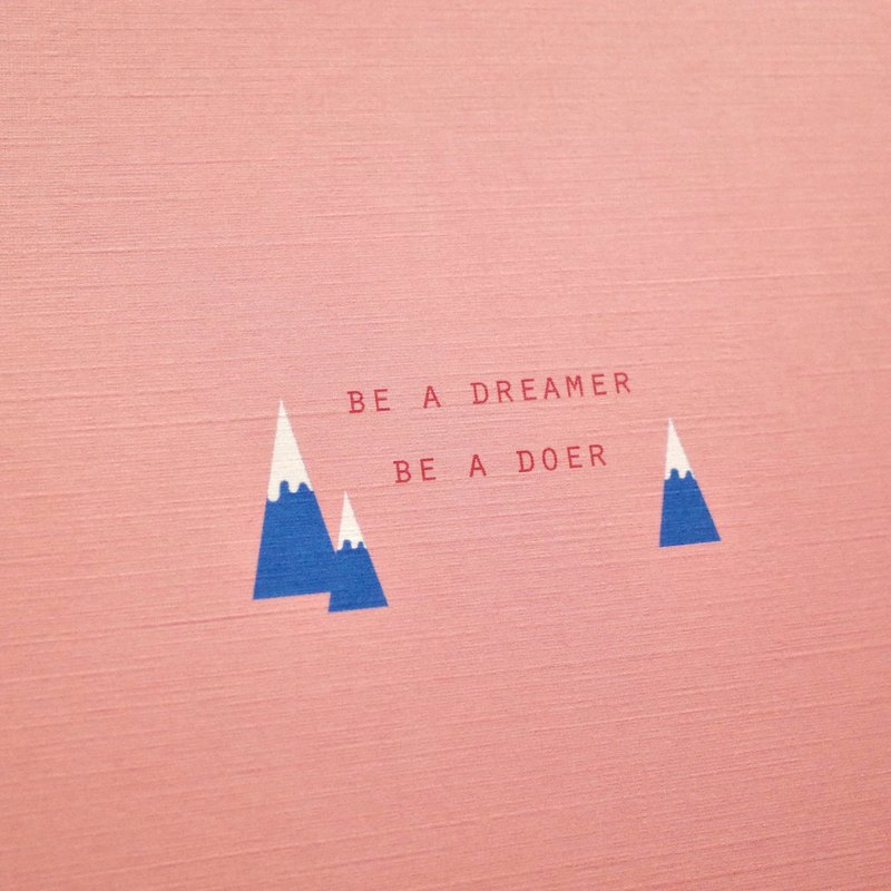 Handy kee postcard - be a dreamer / be a doer