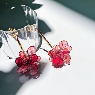 <Fireworks> Unilateral style handmade resin earrings / hanging models / earring / accessories