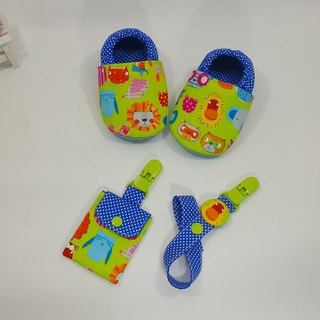 Wonderful zoo births Ceremony Baby Shoes + talismans pocket clip + pacifier clip