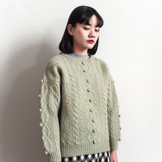 Vintage gray-green weave vintage sweater