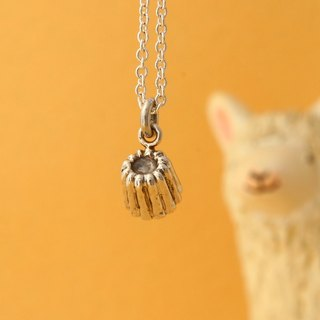 My Sweetie hand-made sterling silver necklace / cute snacks Series - Lai Lu / for clavicle chain / handmade sliver necklace / choker canele dessert