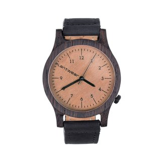 Plantwear European handmade wood watch -Heritage series-Ebony Coffee Brown - Ebony