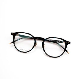 Japan's big box limited edition blue eyes glasses frame round hexagon