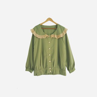 Dislocation vintage / chiffon big round neck shirt no.888 vintage