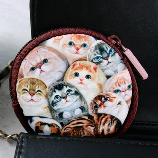 [Henry House Family] Diving Cloth Coin Purse - Hundred Cats
