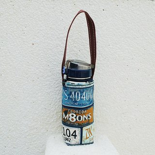 American retro license plate kettle bag / beverage bag
