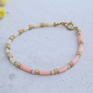 Rhodonite jade brass bracelet 0864(look Beautifully)